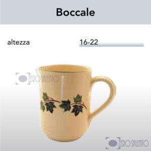 Brocca Boccale in Terracotta Ceramica con decoro Edera Salento
