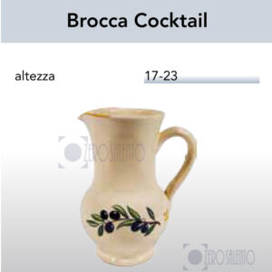 Brocca Cocktail con Ramo Olive Salentino by Zerosalento