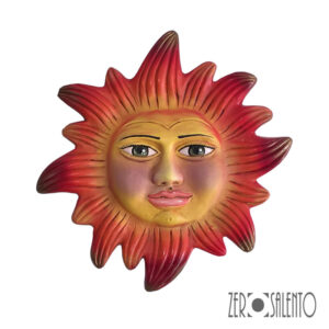 Mascherone | Maschera IL SOLE DEL SALENTO in Terracotta cm30 by ZeroSalento