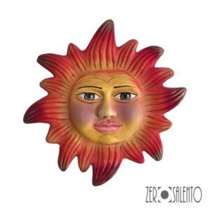 Mascherone | Maschera IL SOLE DEL SALENTO in Terracotta cm30 by ZeroSalento