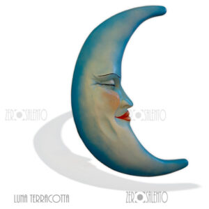 Maschera LA LUNA DEL SALENTO in Terracotta dipinta a mano