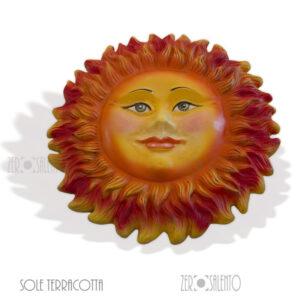Maschera IL GRANDE SOLE DEL SALENTO in Terracotta cm50