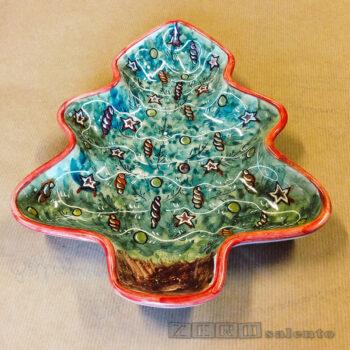 Porta Cioccolatini - Porta Biscotti Natalizi a forma di Albero di Natale by Zerosalento