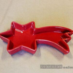 Porta Cioccolatini - Porta Biscotti Natalizi a forma di Stella Cometa Rossa by Zerosalento