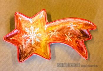 Porta Cioccolatini - Porta Biscotti Natalizi a forma di Stella Cometa colorata by Zerosalento