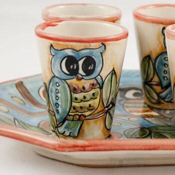 set-bicchieri-vassoio-limoncello-ceramica-civetta-01
