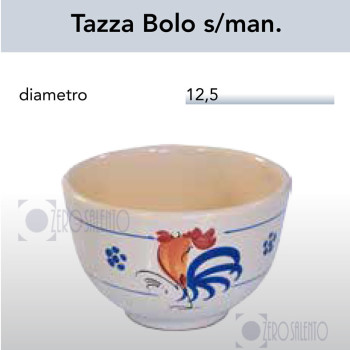 Tazza Bolo senza manico con Galletto Salentino by Zerosalento