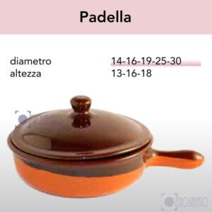 Padella - Pirofile in Ceramica per cottura serie Rustica