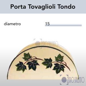 Porta Tovaglioli Tondo in Terracotta Ceramica con decoro Edera Salento