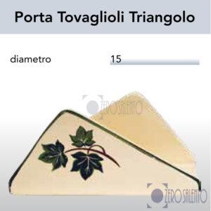PortaTovaglioli Triangolo in Terracotta Ceramica con decoro Edera Salento