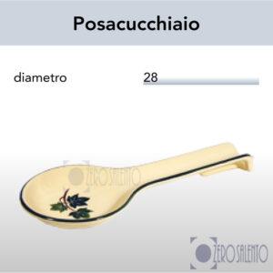 Portamestoli Posacucchiaio in Terracotta Ceramica con decoro Edera Salento