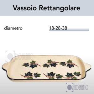 Vassoio Rettangolare in Terracotta Ceramica con decoro Edera Salento