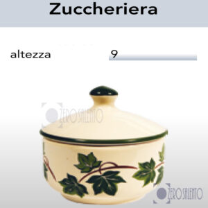 Zuccheriera in Terracotta Ceramica con decoro Edera Salento