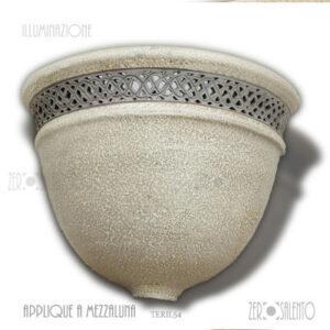 Applique mezzaluna Bianco Grigio TERIL54 ILLUMINAZIONE