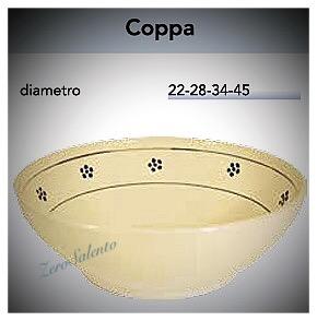 Coppa Coppetta Centrotavola in Terracotta - Ceramica con decoro Stelle Salento