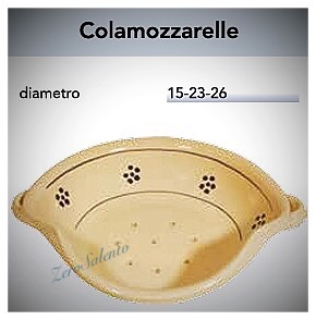 Cola Mozzarelle in Terracotta - Ceramica con decoro Stelle Salento