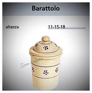 Barattolo Spezie - Tè - Sale - Caffè - Zucchero in Terracotta decoro Stelle Salento