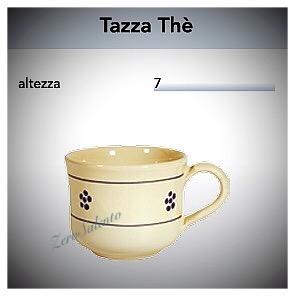 Tazza Tè con manico in Terracotta - Ceramica decoro Stelle Salento