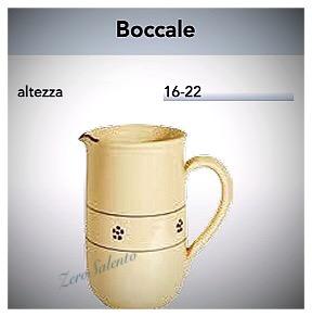 Brocca Boccale acqua e vino in Terracotta - Ceramica decoro Stella Salento