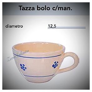 Tazza Cioccolata calda con manico in Terracotta - Ceramica decoro Stella Salento