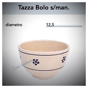 Tazza Cioccolata calda senza manico in Terracotta - Ceramica decoro Stella Salento