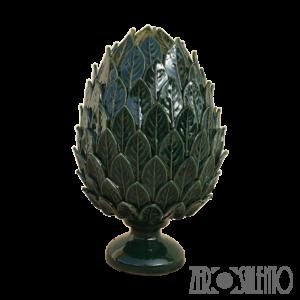Pigna in Terracotta o Pumo Porta Fortuna colore verde - Ceramica del Salento in casa - by ZeroSalento