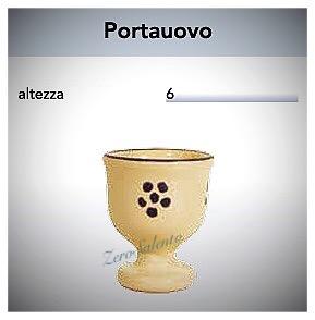 Portauovo in Terracotta - Ceramica decoro Stella del Salento