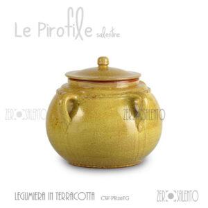 legumiera-terracotta-pirofila-giallo-finitura-decape-shabby-chic
