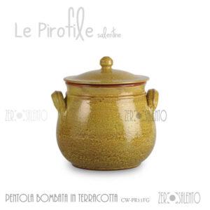 pentola-bombata-terracotta-pirofile-giallo-salento-puglia-italia