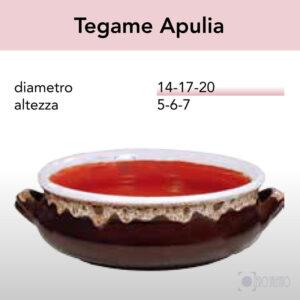 Tegame Apulia in Terracotta Ceramica serie Merletto by Zerosalento