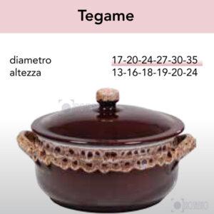 Tegame in Terracotta Ceramica serie Merletto by Zerosalento