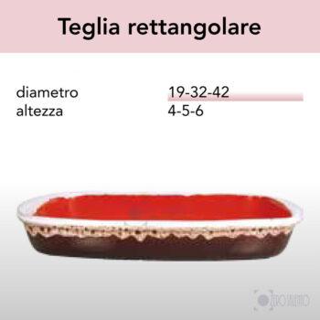 Teglia Rettangolare in Terracotta Ceramica serie Merletto by Zerosalento