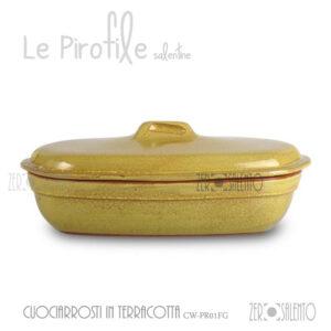 cuociarrosti-terracotta-pirofile-giallo-cucina-salento