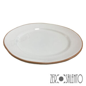 Piatto Piano bianco serie Deformè con bordi irregolari by ZeroSalento