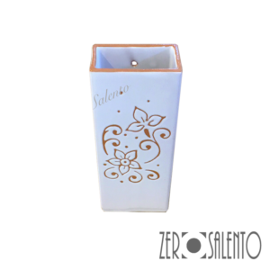 Umidificatore termosifone con decoro graffiato a incisione a mano fronte- by ZeroSalento