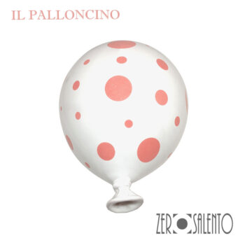 Palloni e Palloncini in Terracotta colorati Bianco a Pois rosa