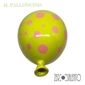 Palloni e Palloncini in Terracotta colorati Verde Pistacchio a Pois