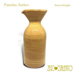 Brocca Bottiglia giallo Fascino Antico by ZeroSalento
