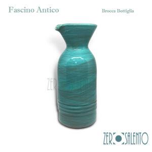 Brocca Bottiglia turchese Fascino Antico by ZeroSalento