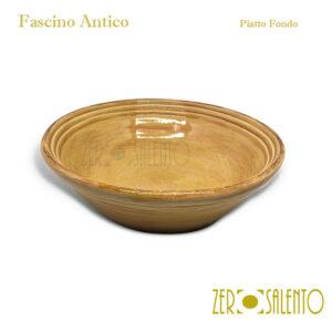 Piatto Fondo in Terracotta - Ceramica Fascino Antico giallo