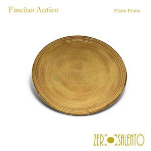 Piatto Frutta cm23 giallo Fascino Antico ZeroSalento