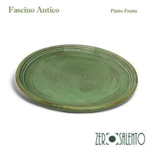 Piatto Frutta in Terracotta - Ceramica Fascino Antico verde