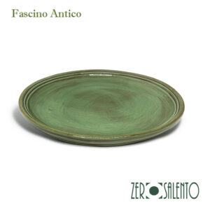 Piatto Piano in Terracotta - Ceramica Fascino Antico giallo
