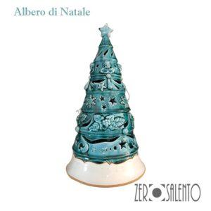 Albero-di-Natale-porta-candela-in-terracotta-intagliato-a-mano
