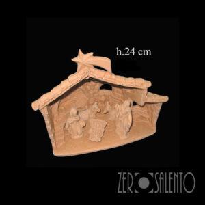 Capanna Sacra Famiglia Natale in terracotta naturale TERNAT038