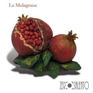Melagrane-in-Terracotta-dipinta-a-mano---il-frutto-dell'autunno--prodotto-artigianale
