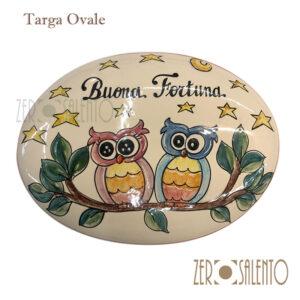 Targa Buona Fortuna con Civette