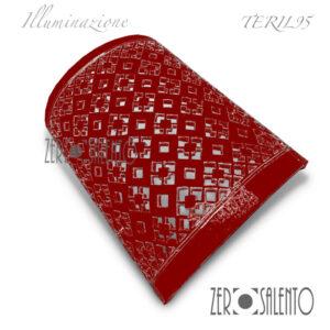 Applique-intagliato-a-mano-con-quadrati-e-rombi-rosso---TERIL95