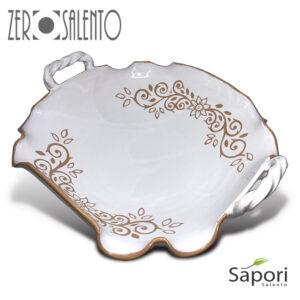 Centrotavola cesto terracotta decoro incisione a mano UGENTO by ZeroSalento e SaporiSalento 3