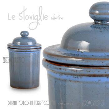 Barattolo-Terracotta-contenitore-alimenti-erbe-aromatiche-CW-ST063FL-blu-SALENTO